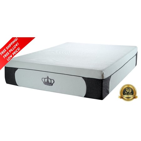 "Dynasty Mattress 14.5"" PLUSH Gel Memory Foam Mattress - Cal King"