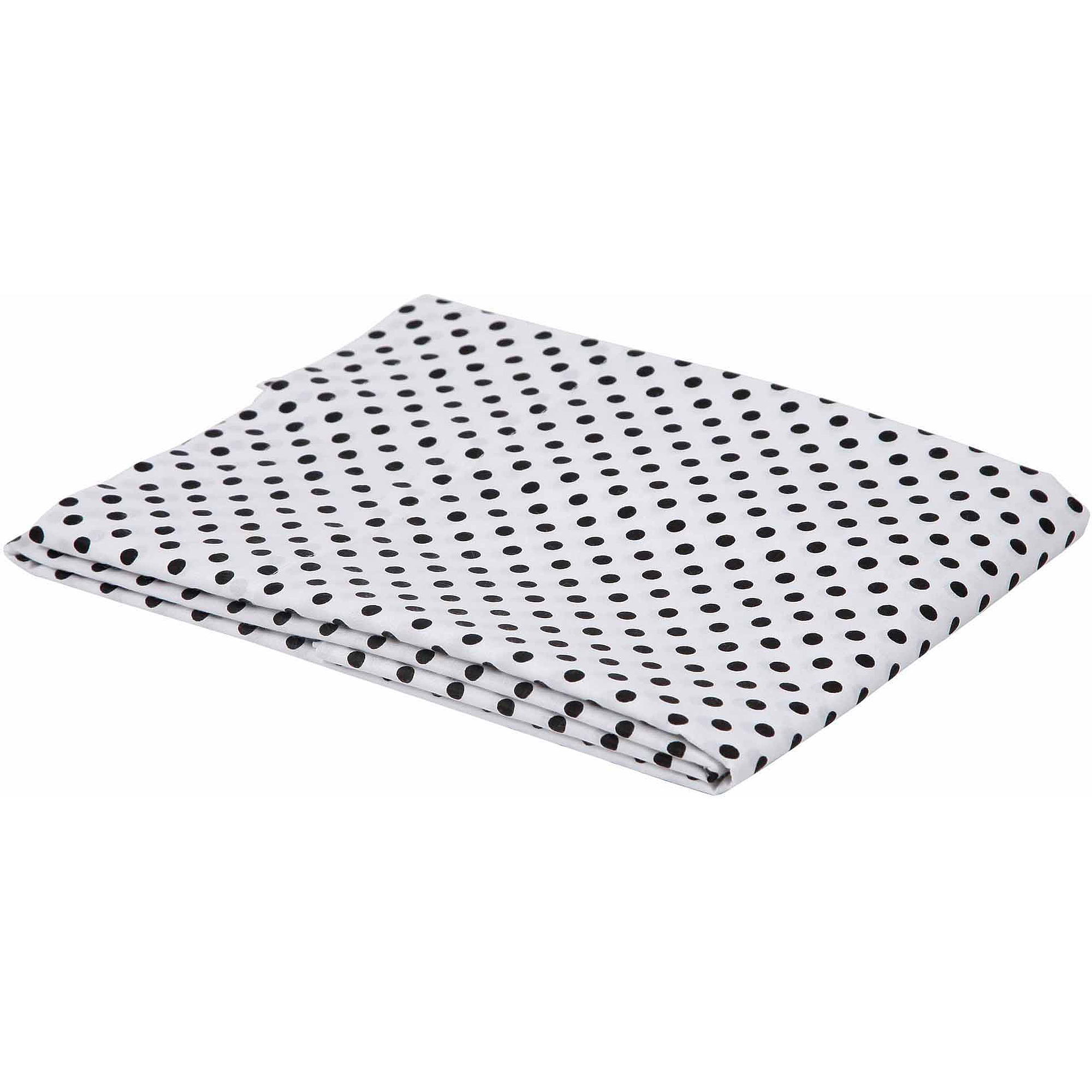 Bacati - Pin Dots Fitted Crib Sheet 100% Cotton Percale,  Available in Multiple Colors