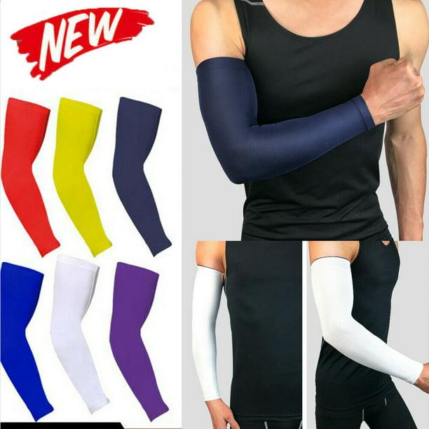 Sports Arm Sleeves UV Sun Protect Anti-slip Fitness Basketball Armband