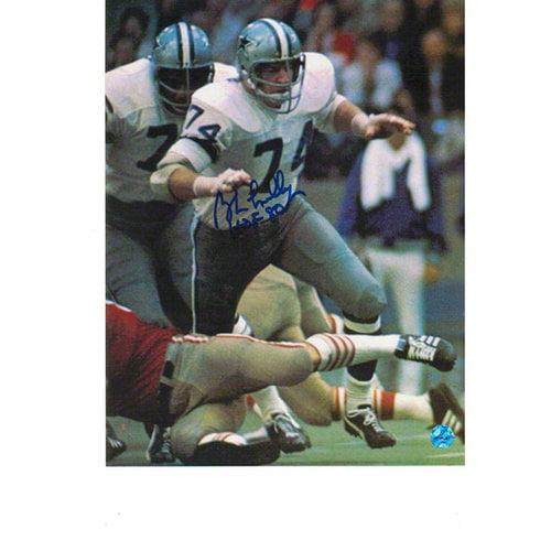 NFL - Bob Lilly Dallas Cowboys Autographed 8x10 Photograph - vs. 49ers