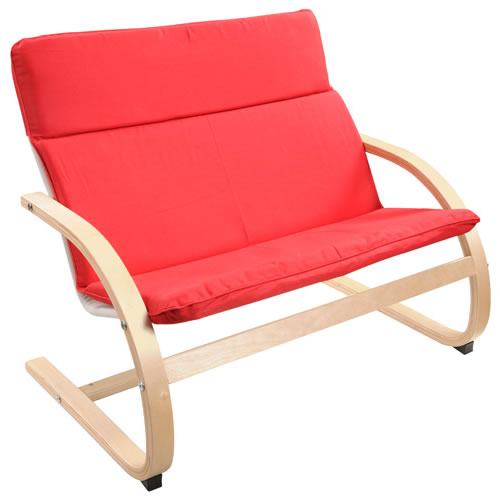 Guidecraft Birch Kiddie Chair in Red