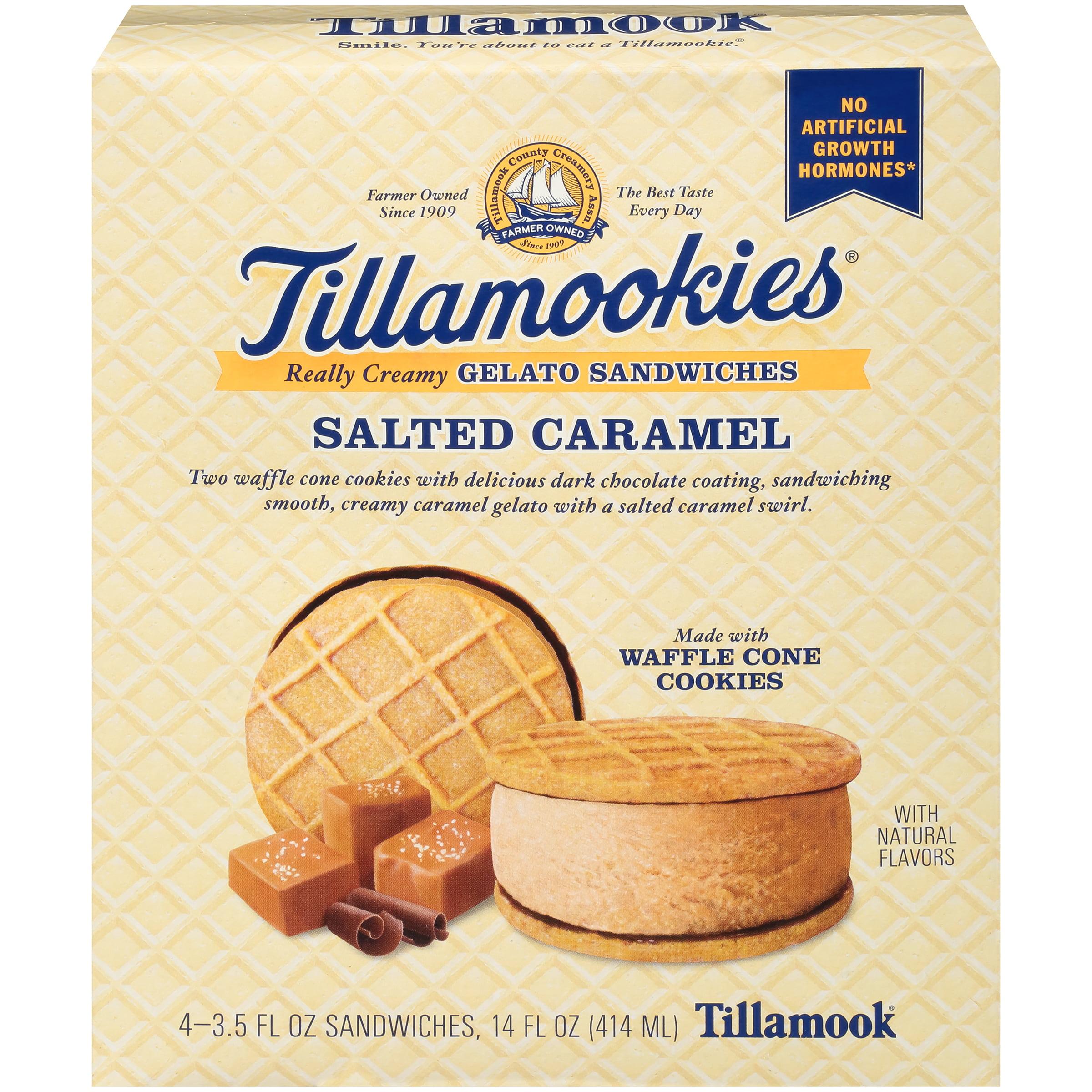 Tillamook Salted Caramel Tillamookies Gelato Sandwiches