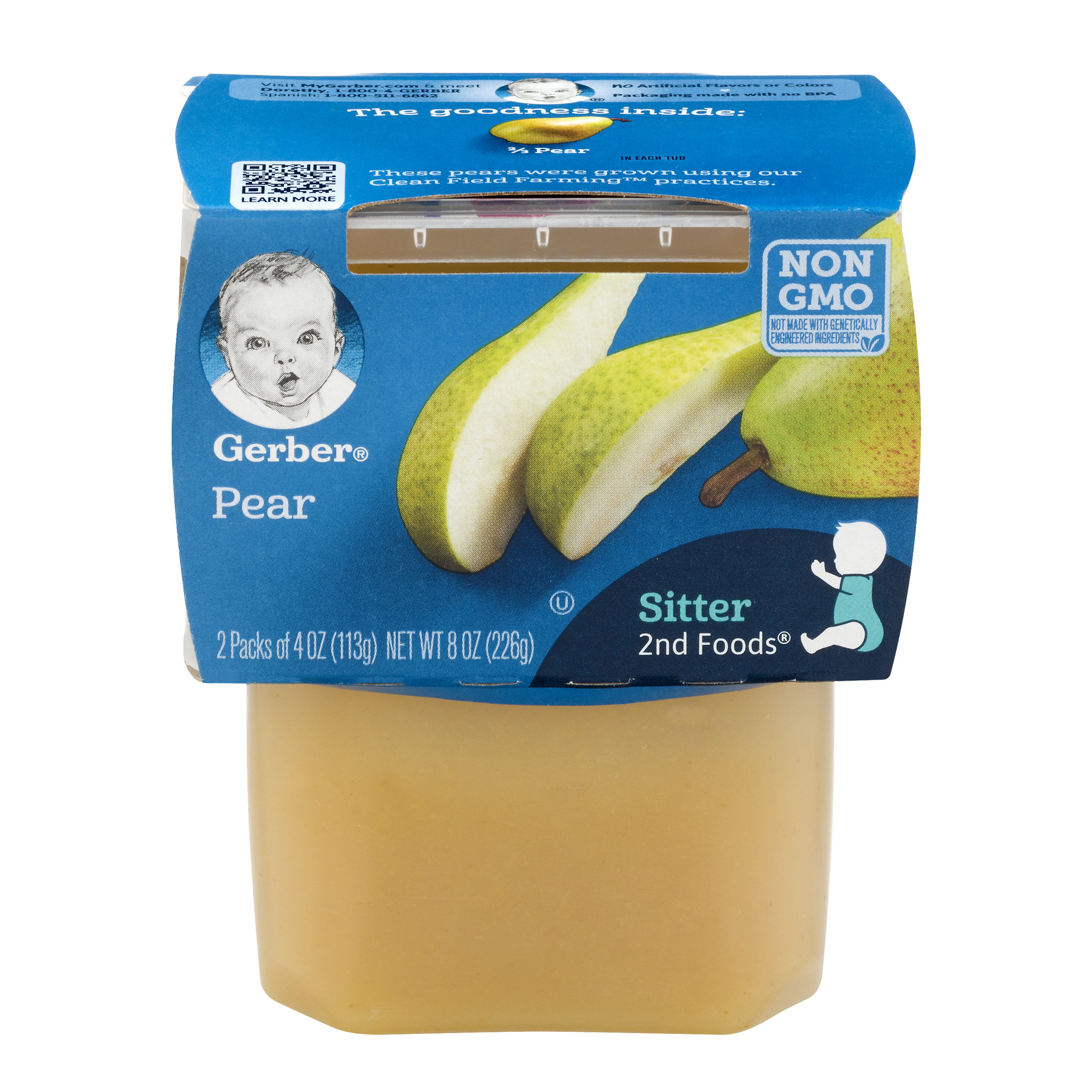 <mark>Gerber</mark> 2nd <mark><mark>Food</mark>s</mark> Pears <mark>Baby</mark> <mark>Food</mark>, 4 oz, 2 count