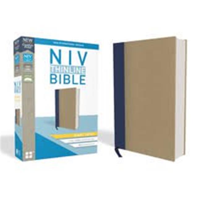 Zondervan 178990 Blue & Tan Cloth Over Board NIV Thinline Bible - image 1 of 1