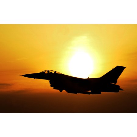 Falcon Frame Parts (Framed Art For Your Wall Into the sunset An F-16 Fighting Falcon flies over South Korea during an exercise flight as part of 10x13 Frame)