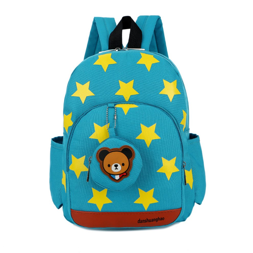 Stars Printed Pattern Cute Children Backpack Outdoor Adjustable Strap Large Capacity For Student Kindergarten School... by