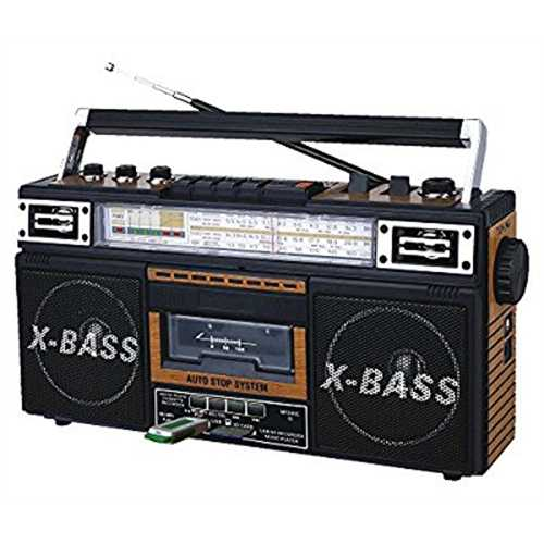 Refurbished QFX J-22UWD ReRun X Radio and Cassette to MP3 Converter - Wood