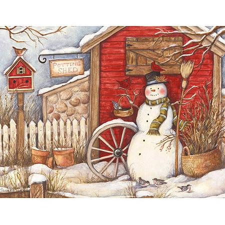 lang winter barn boxed christmas cards