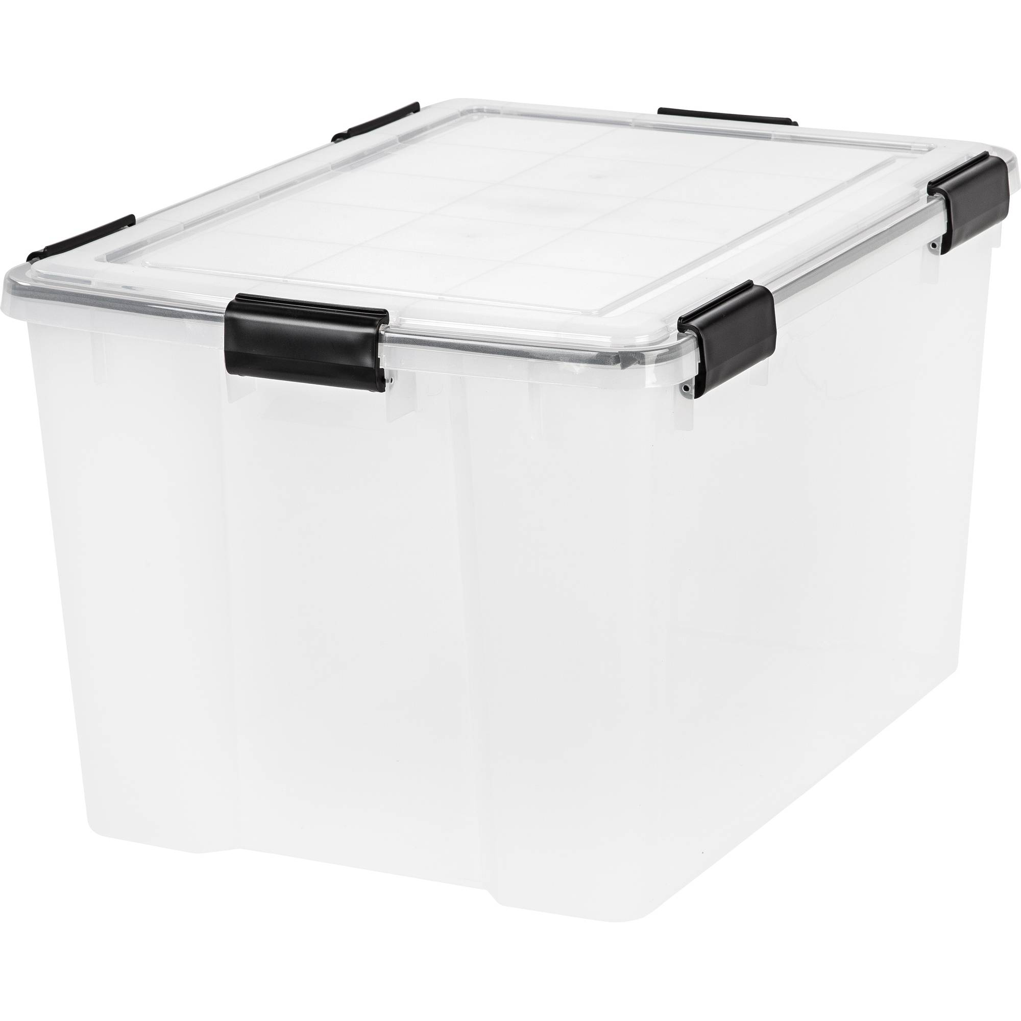 IRIS 74 Qt./18.5 Gal. WEATHERTIGHT® Storage Box, Clear (Available in Case of 4 or Single Unit)