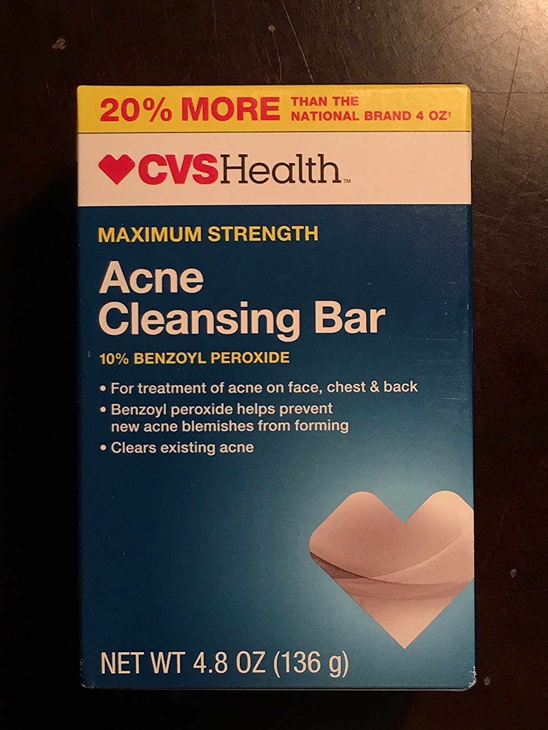 Acne Cleansing Bar Maximum Strength, 4.8 OZ, Compare to PanOxyl Bar 10% - 4 oz By CVS 5 Pack - Eucerin Original Healing Rich Creme, 16 Oz Each