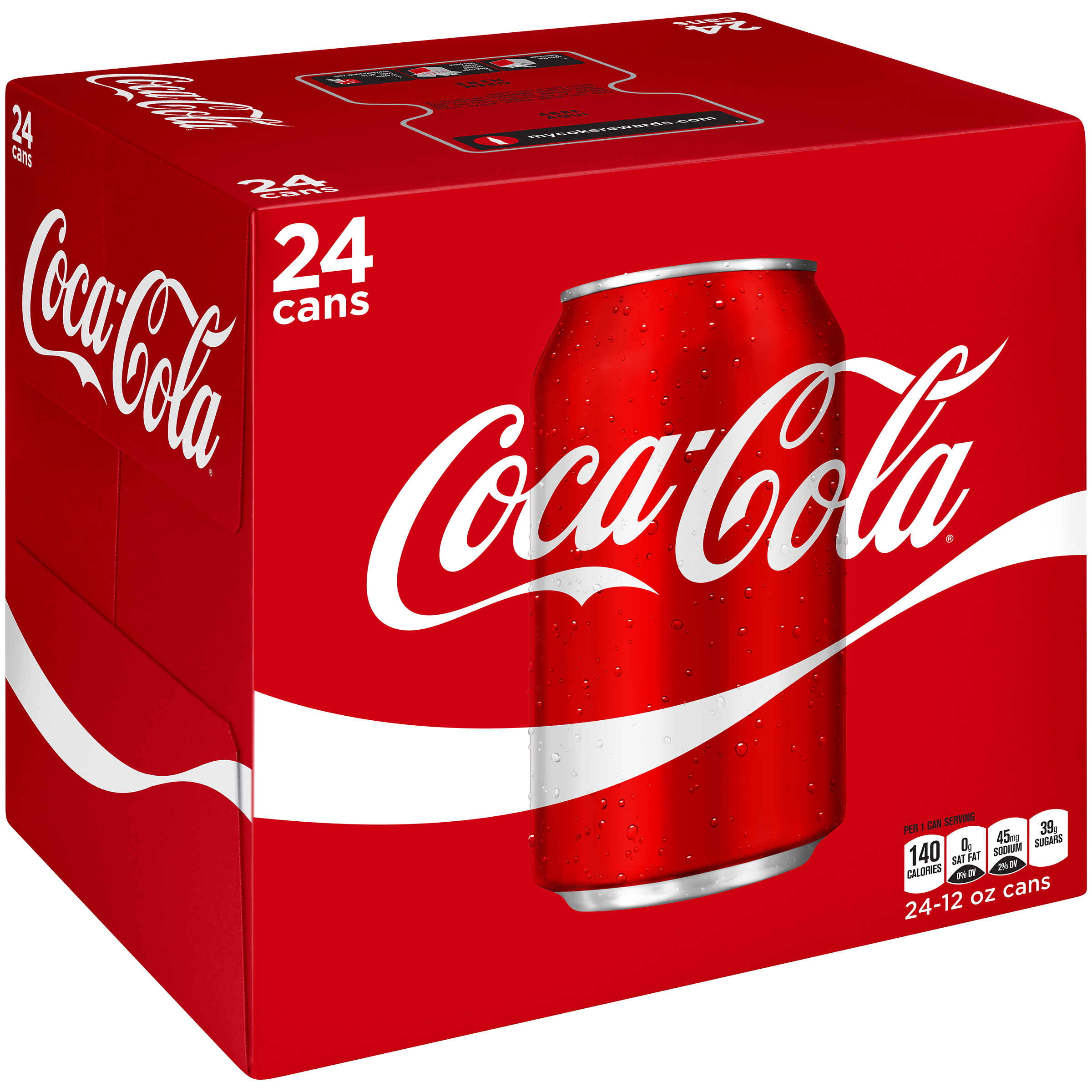 Coca-Cola Cans, 12 fl oz, 24 Pack by Generic