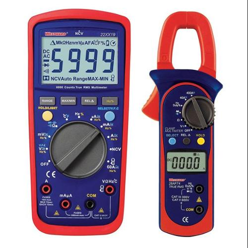 Westward 22XX29 Digital Electrical Multimeter and Clamp On Ammeter