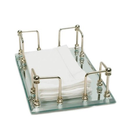 Mirrored Guest Towel Tray (Organize It All 19092W-1 Mirrored Guest Towel)