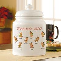 Personalized Little Deers Christmas Cookie/Treat Jar