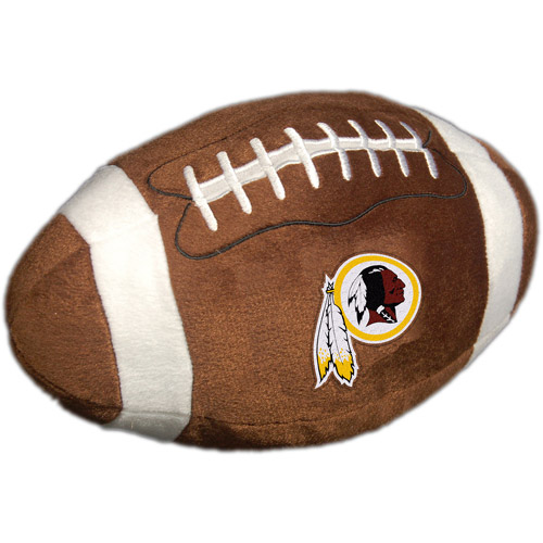 NFL Plush Football Pillow, Washington Redskins