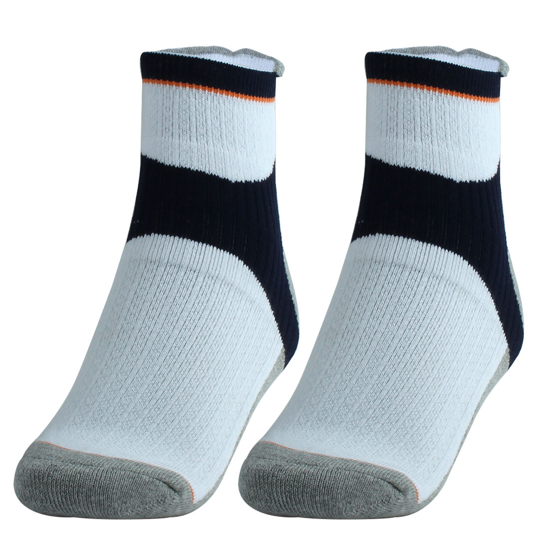 R-BAO Authorized Adult Tennis Workout Mountain Bike Cycling Socks Navy Blue Pair