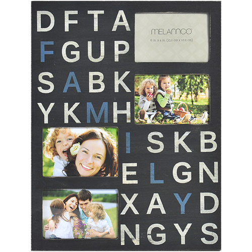 "Melannco 14"" x 18"" 4-Opening Wall Plaque, Family"