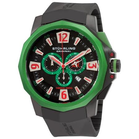 - Stuhrling Original  Men's Admiral Swiss Quartz Chronograph Rubber Strap Watch