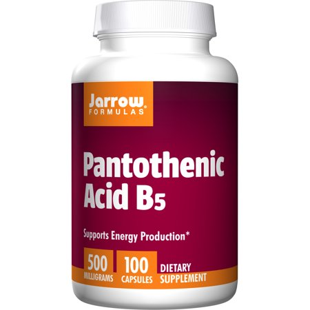 Jarrow Formulas Pantothenic Acid B5 500 mg Capsules, 100 Count