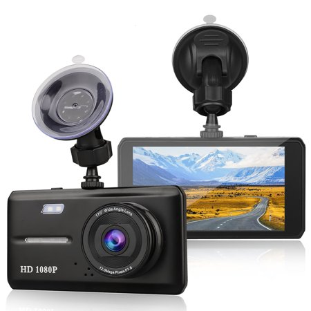 Dual Dash Cam Front and Rear, EEEkit 1080p HD Car DVR Dashboard Camera Recorder with Night Vision, 4.5 inch Screen, 170 Super Wide Angle, G Sensor, Parking Monitor, Motion (Best Front And Rear Dash Cam 2019)