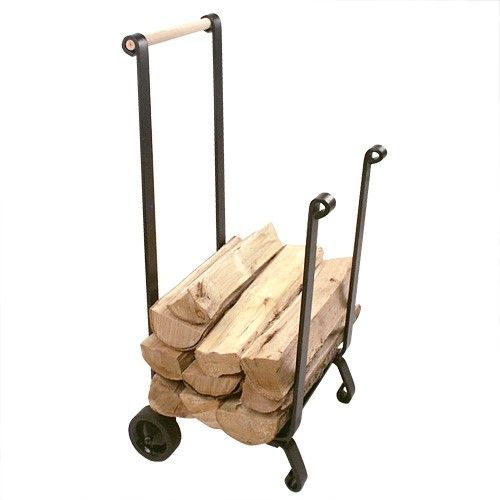 Heavy-Duty Firewood Cart With Wheels