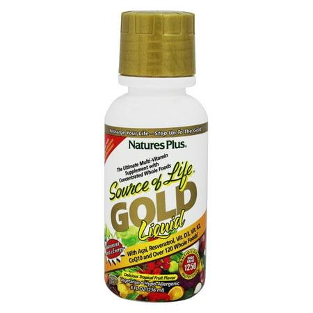 Nature's Plus - Source of Life Gold Liquid Delicious Tropical Fruit Flavor - 8 - Life Fruit