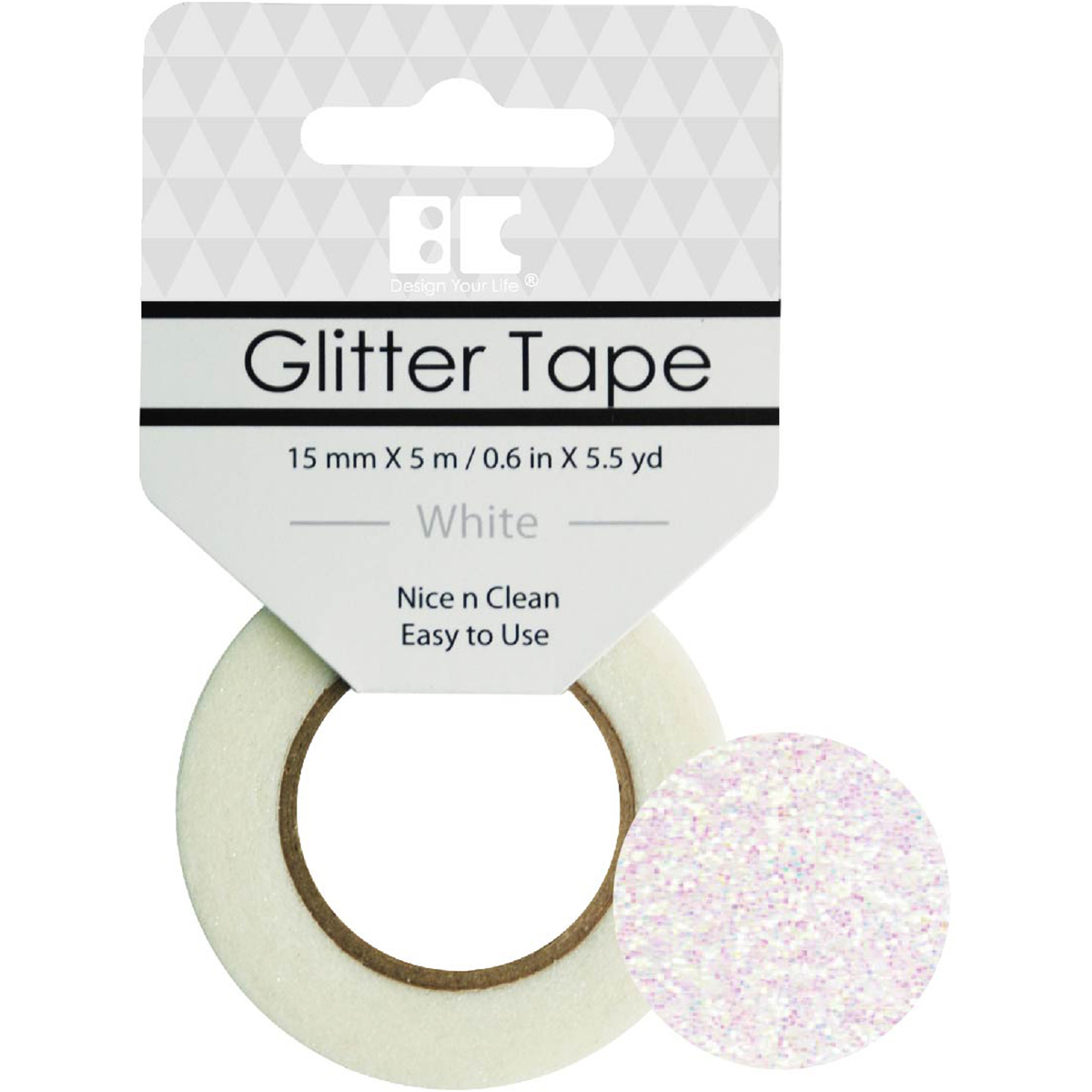 Best Creation Glitter Tape 15mmX5m-White