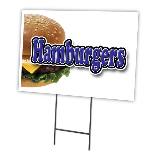 """ALL BEEF HOT DOGS  12""""x16"""" Yard Sign & Stake outdoor plastic coroplast window"""