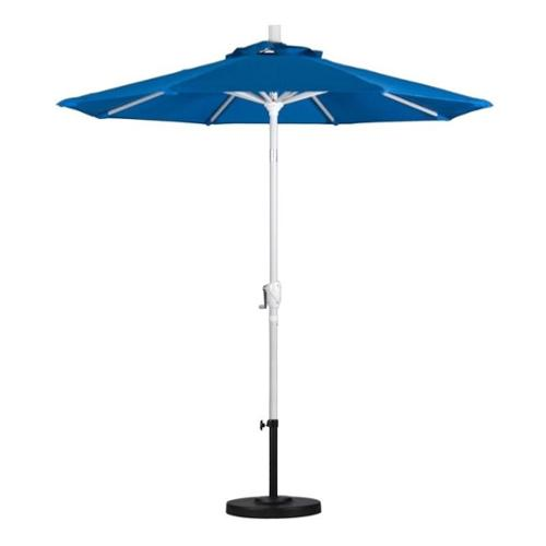 7 5 Aluminum Market Umbrella Push Tilt Matte White Olefin