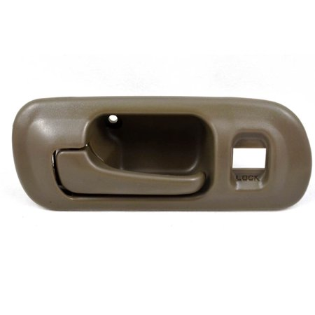 PT Auto Warehouse HO-2571B-FL - Inner Interior Inside Door Handle, Brown (Taupe) - with Lock Hole, 4-Door Sedan, Driver Side Front Drivers Side Lock Box