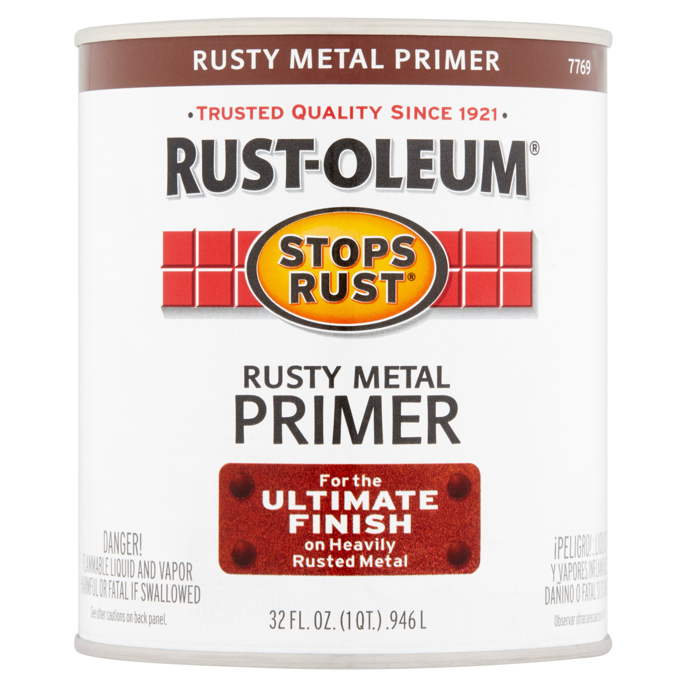 Rust-Oleum Stop Rust Rusty Metal Primer For The Ultimate Finish On Heavy Rusted Metal, 32 fl oz