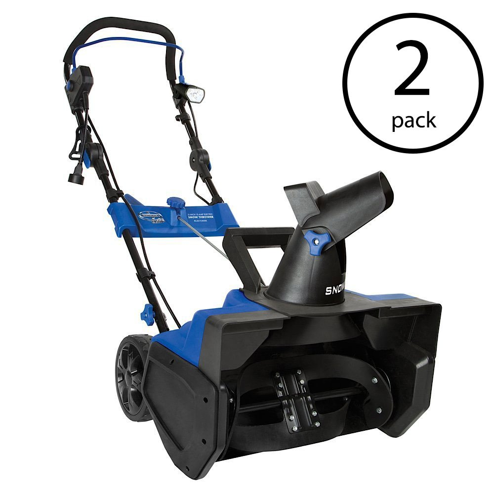Snow Joe Ultra 21 Inch Electric Snow Blower w/ 4 Blade Auger & Light (2 Pack)