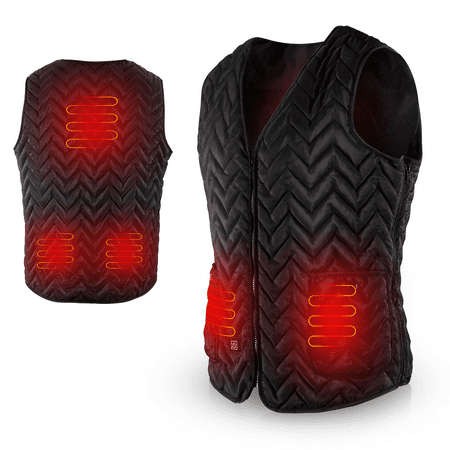 AGPTEK Heated Vest USB Charging, Light Weight Insulated Heated Down Vest for Outdoor, Camping for Men Women, Size:M / L
