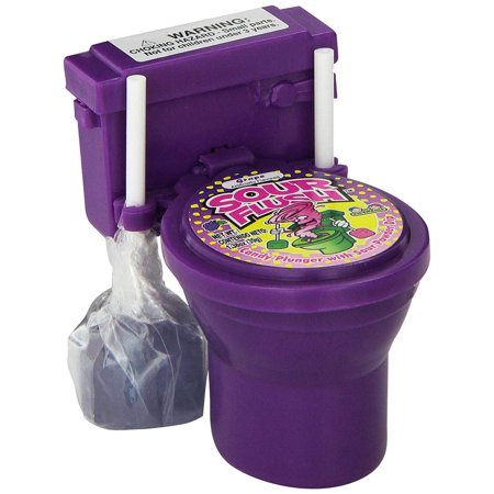 Kidsmania Sour Flush Candy: Toilet with Candy Plungers and Powder Dip (Flaver Chosen at Random)