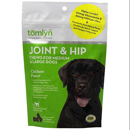 Tomlyn Joint and Hip Chews for Medium and Large Dogs Multi-Colored