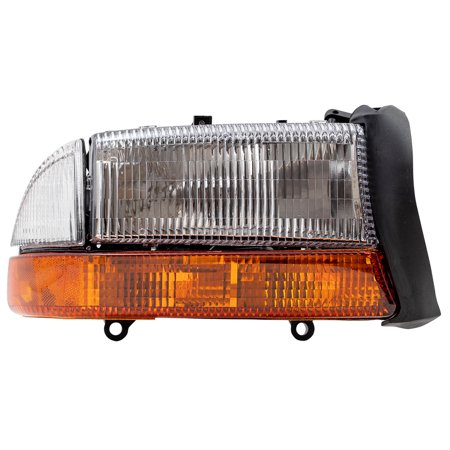 BROCK Composite Headlight Headlamp with Park Signal Lamp Passenger Replacement for Dodge Dakota Pickup Truck Durango SUV 55055110AI Dakota Passenger Side Headlamp