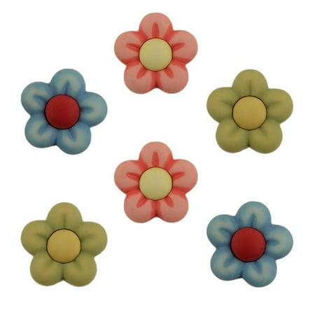 BUTTONS GALORE FLOWER BULK 3D - 25 - Cheap Buttons