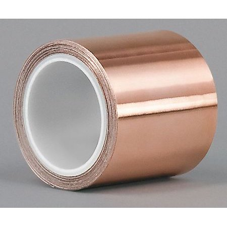 3M 1194 1/4 In. x 6 Yd. Shielding Foil Tape, Copper