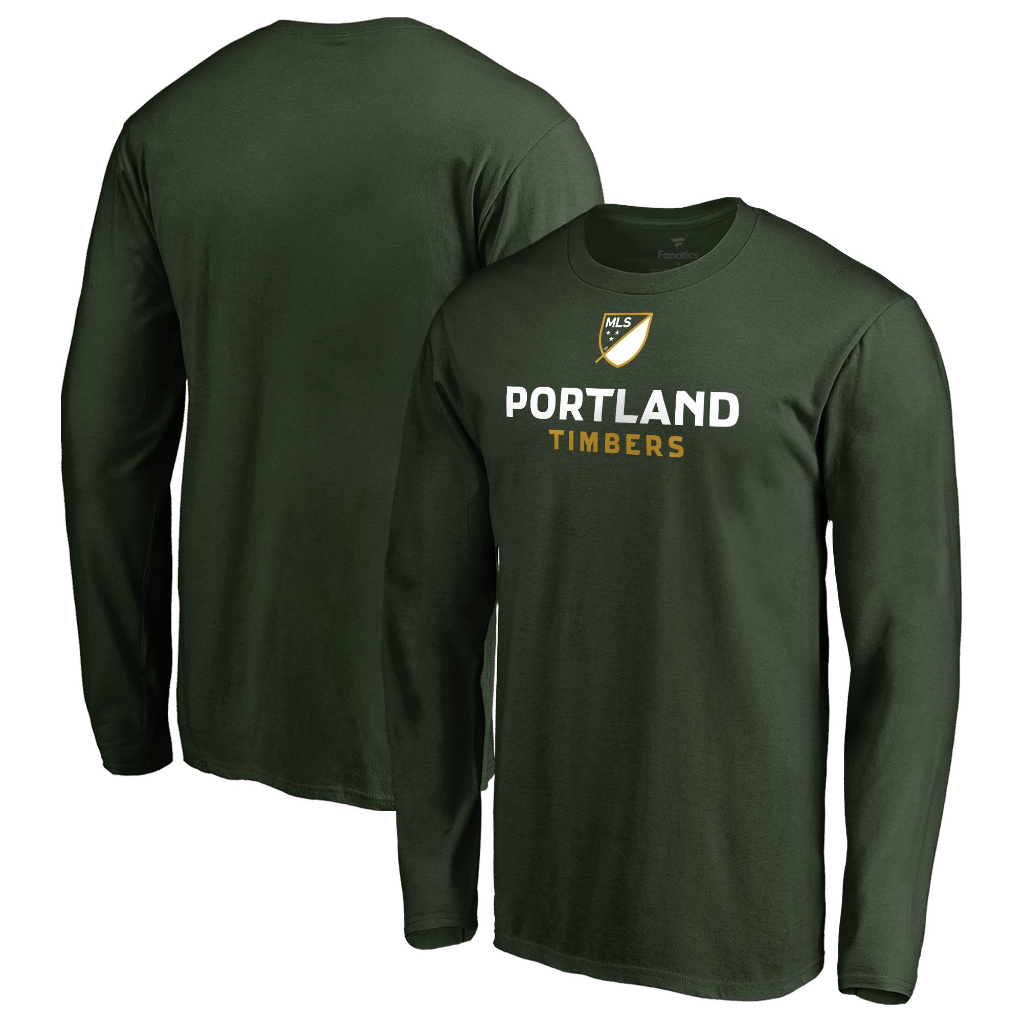 Portland Timbers Fanatics Branded Shielded Long Sleeve T-Shirt - Green