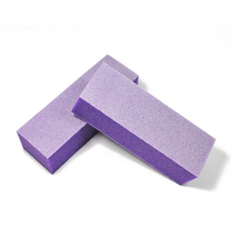 Professional High Quality Acrylic Nails Manicure Pedicure Buffing Buffer Block - Purple 2ct