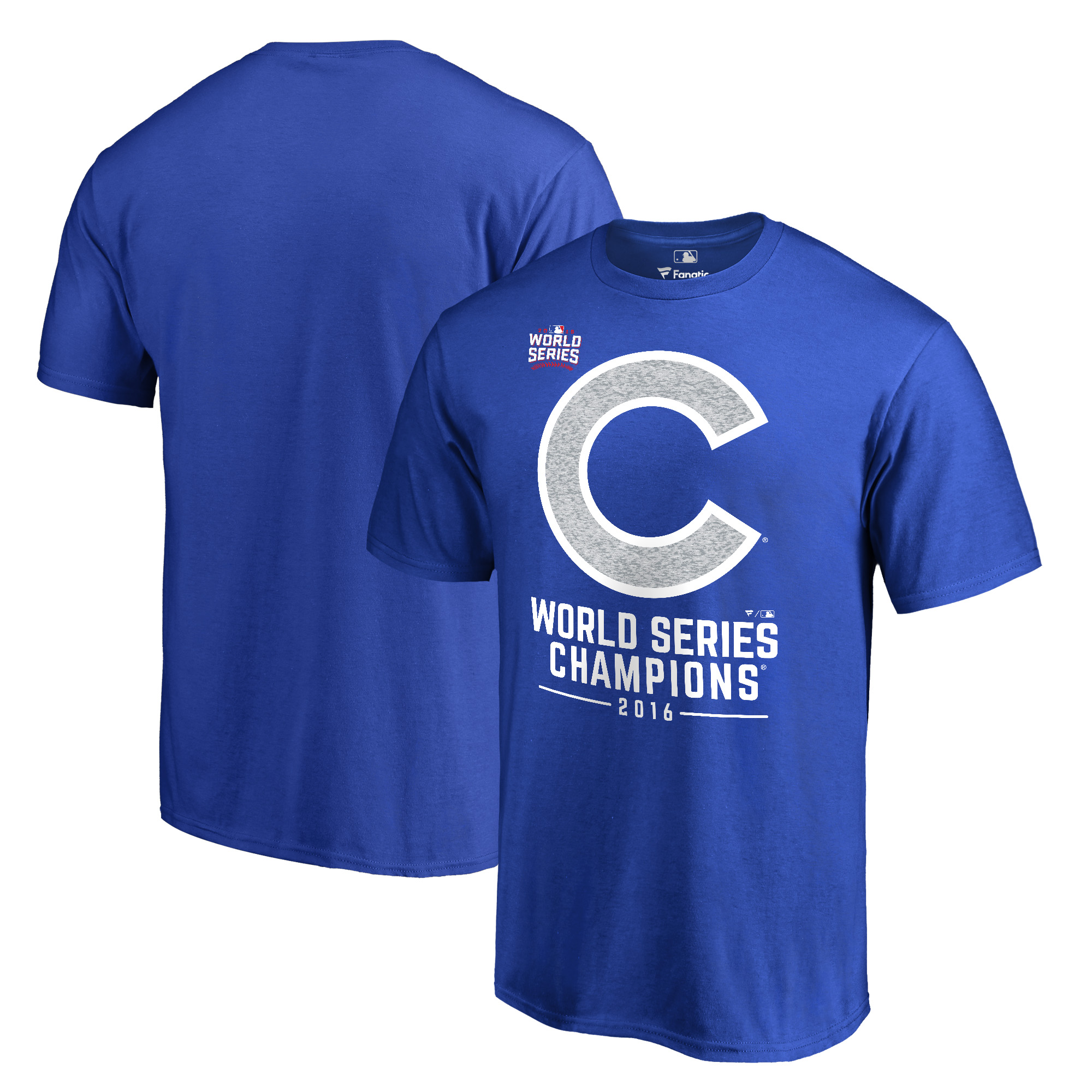 Chicago Cubs 2016 World Series Champions Whiteout T-Shirt - Royal