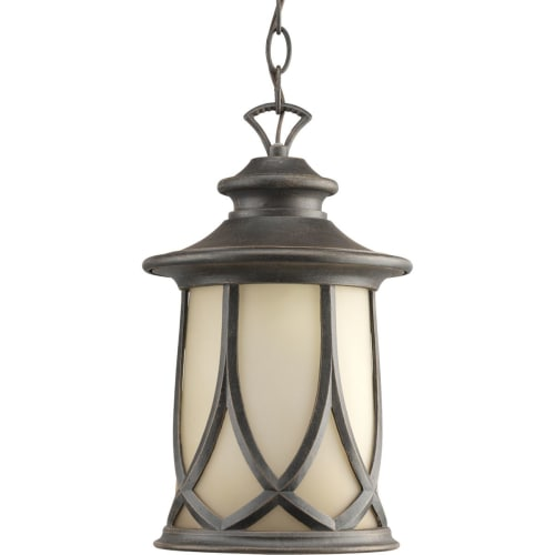 Progress Lighting P6504 Resort Single-Light Outdoor Hanging Lantern with Gradual Umber Etched Glass Shade by Progress Lighting
