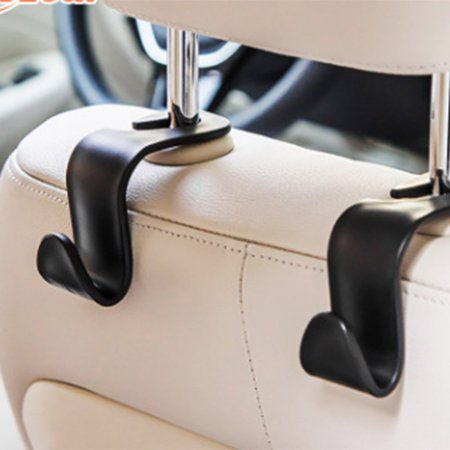 Car Seat Hook L-Shaped Plastic Car Storage Bag Small Hooks Tote - image 5 de 6