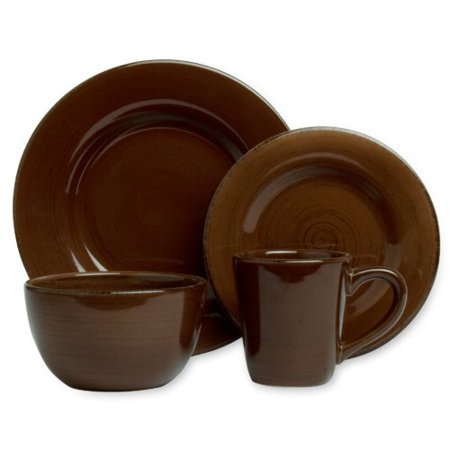 English Ironstone Tableware - TAG Sonoma 16 Piece Dinnerware Set, Service for 4