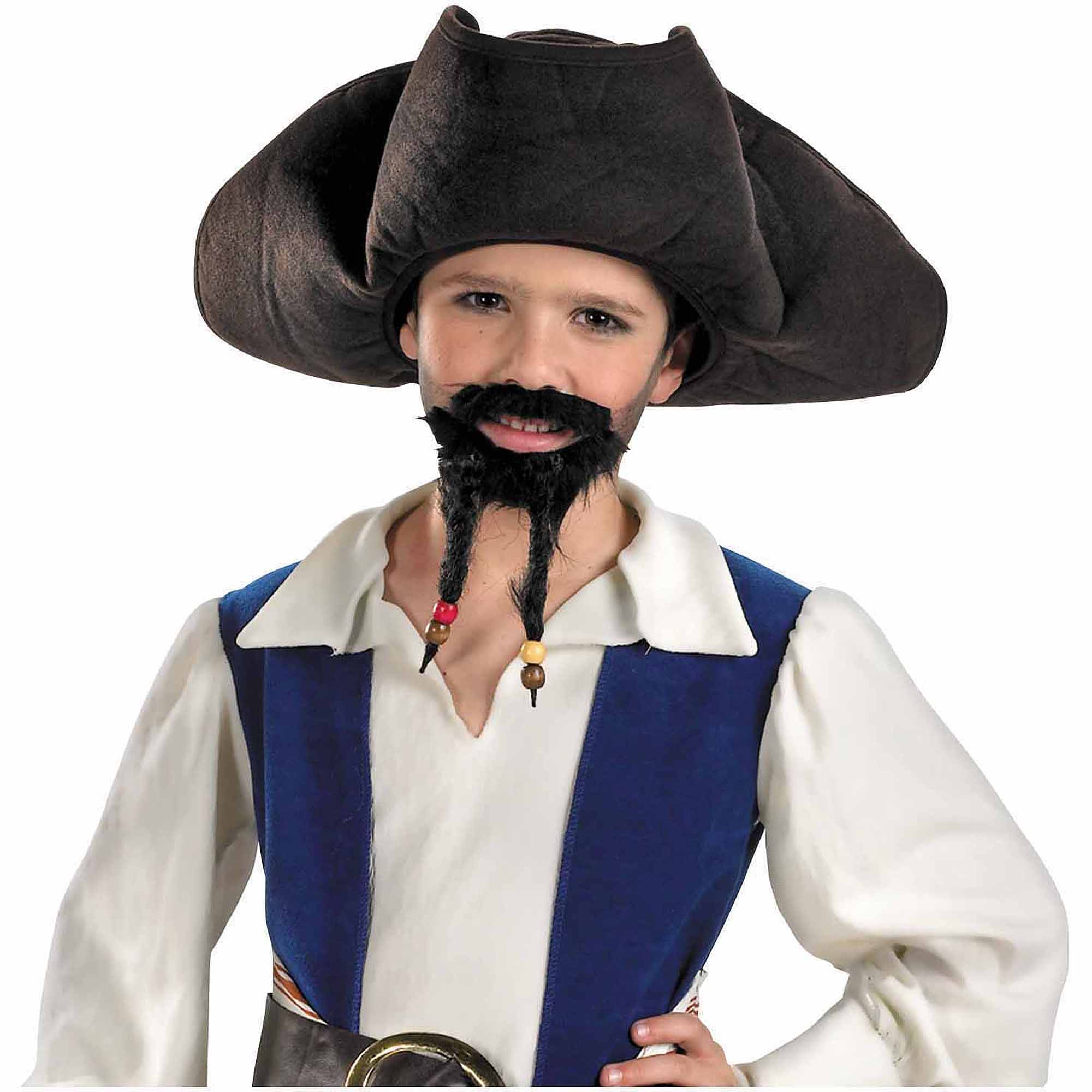 Pirate Hat, Mustache and Goatee Child Halloween Accessory by Generic