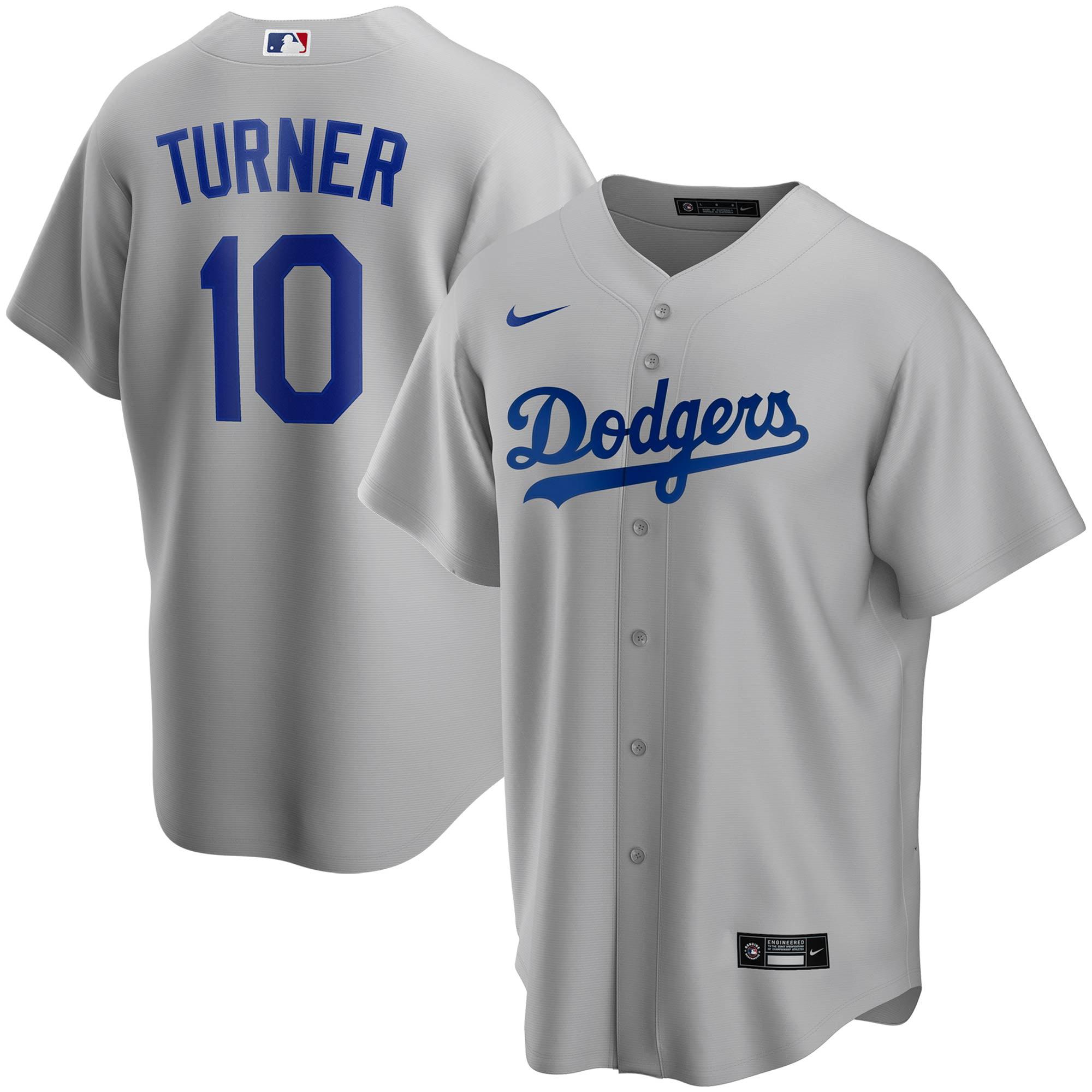 Justin Turner Los Angeles Dodgers Nike Alternate 2020 Replica Player Jersey - Gray - Walmart.com