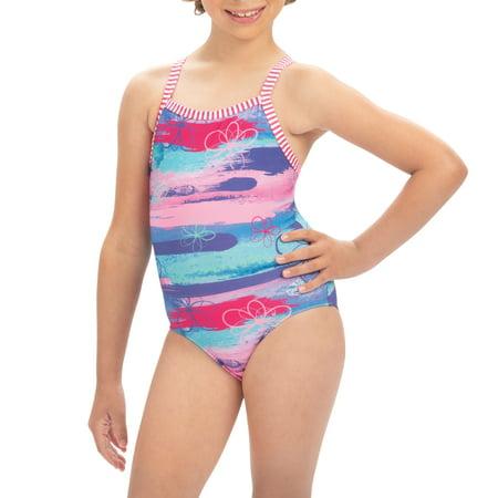 Dolfin Uglies Halloween Suit (Dolfin Uglies Girls Print 1-Piece in Surfs Up, Size)