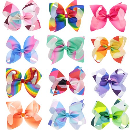 12Pcs Hair Clips, Multicolor Hair Barrettes Hair Bows Hair Pins Hair Accessories for Baby Girls Kids Teens Toddlers - Teens Accessories