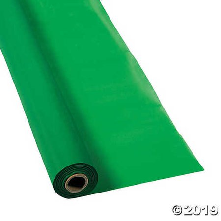 Green Plastic Tablecloth Roll - Roll Of Tablecloth