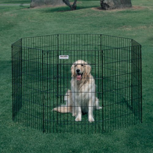 Precision Ultimate Dog Exercise Pen - Black